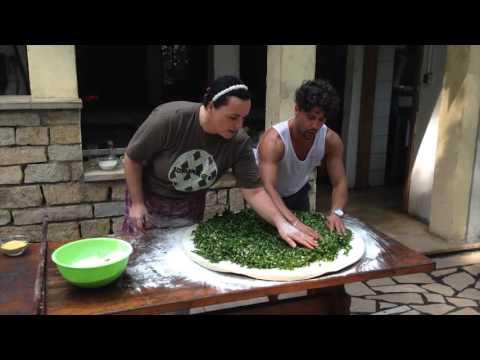 Making Soparnik in Croatia