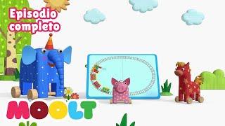 Maderitas - La locomotora  🎶🎼 EPISODIO COMPLETO | caricaturas para bebés en MOOLT