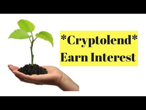 Cryptolend - Earn Interest on your Crypto while Hodling