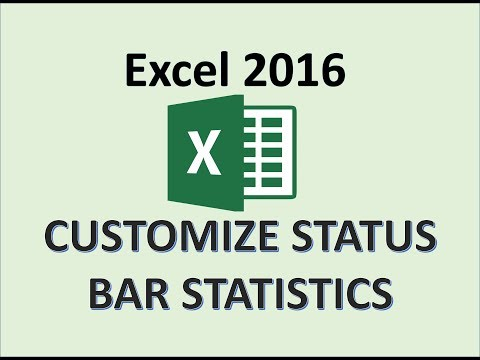 Excel 2016 - Use The AutoCalculate Area To Display Statistics