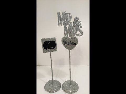 DIY Mr & Mrs Wedding Sign and chalkboard table signs
