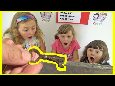We FOUND The KEY To The MYSTERY BOX ! What's inside ? Fun Family Three Ava Isla and Olivia