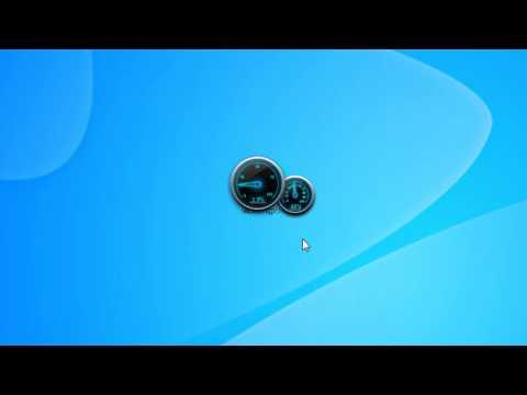 Neon CPU Meter Windows 7 Desktop Gadget