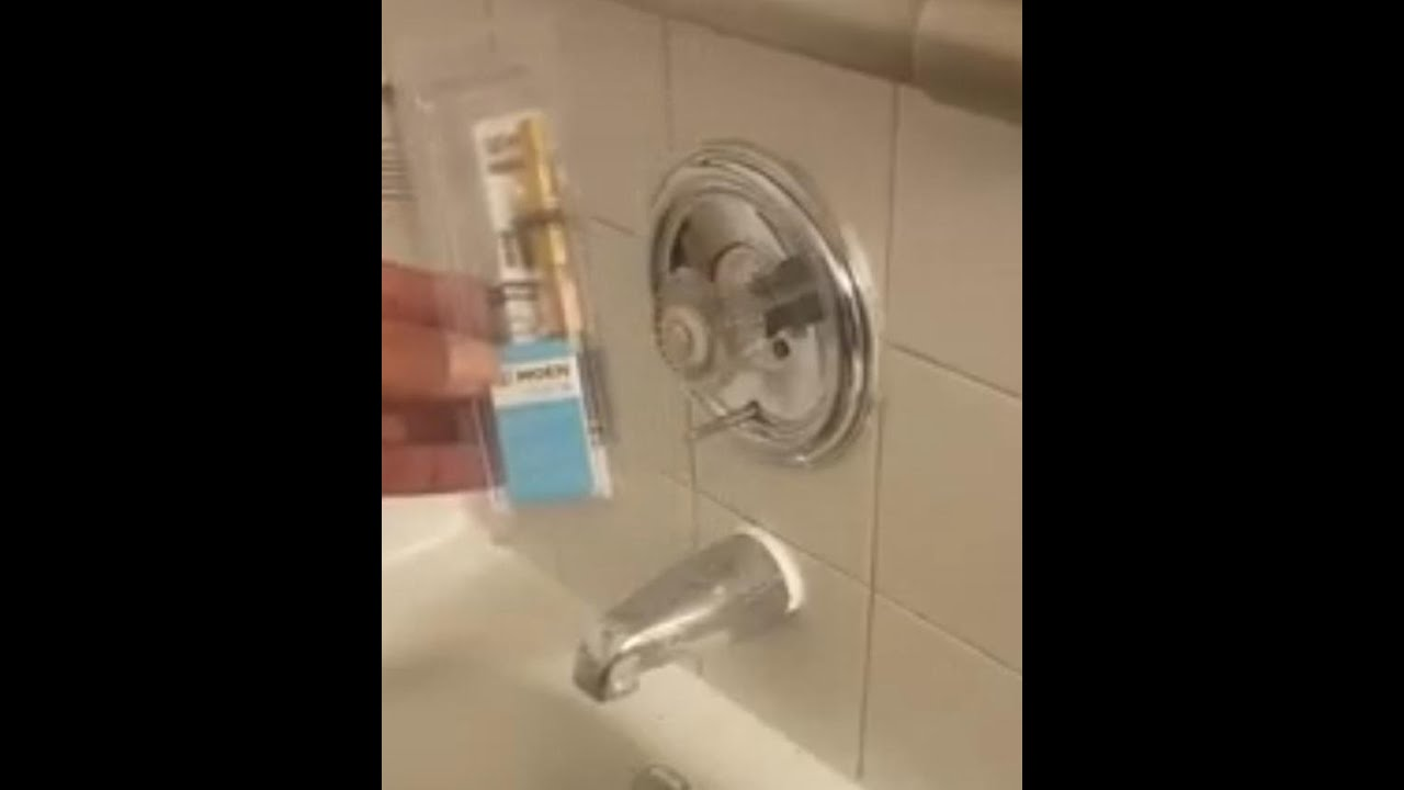 How to replace a moen single handle shower cartridge - YouTube