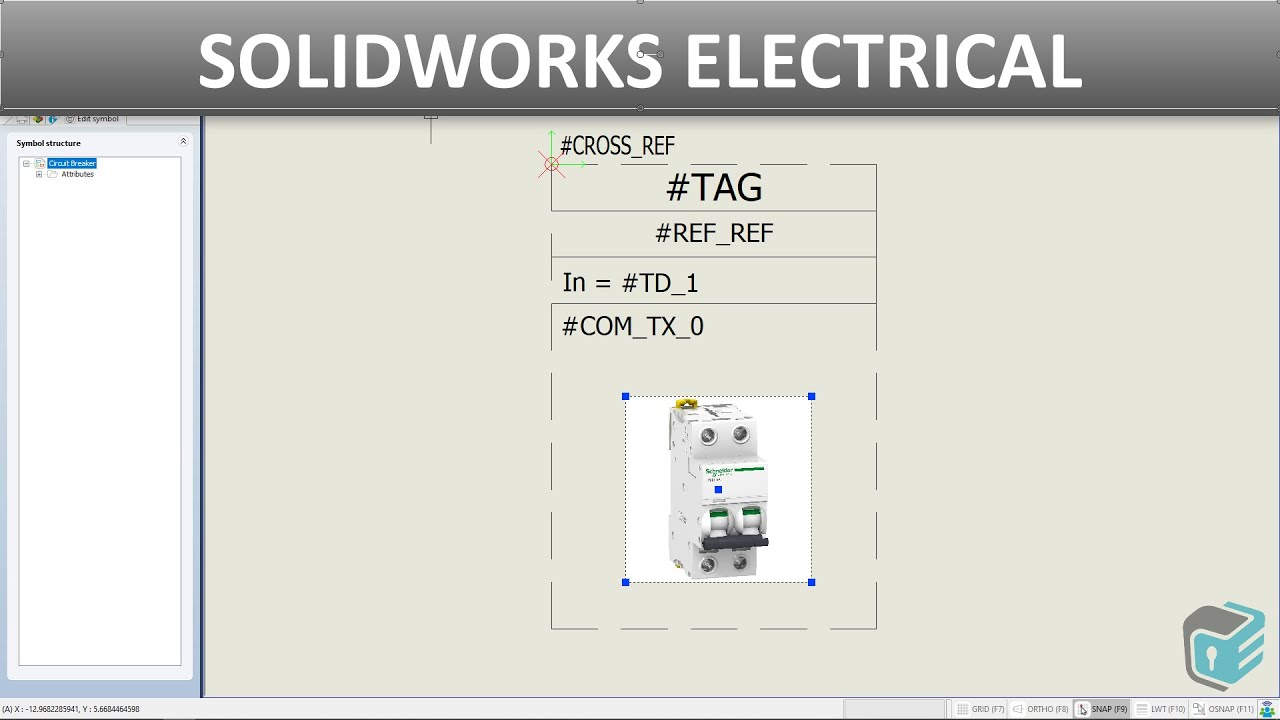 Solidworks Electrical - Creating Line Diagram Symbol