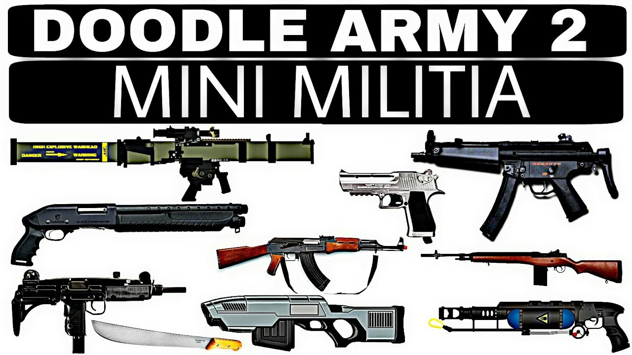 Doodle Army 2 Mini Militia All Gun Weapon Names With Pictures