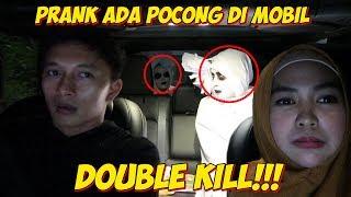PRANK ADA POCONG DI MOBIL AUTO TERIAK😅 Turunin Gue!!!