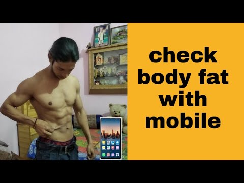 How To Check Body Fat Percentage With Mobile || बॉडी फैट चेक Kre