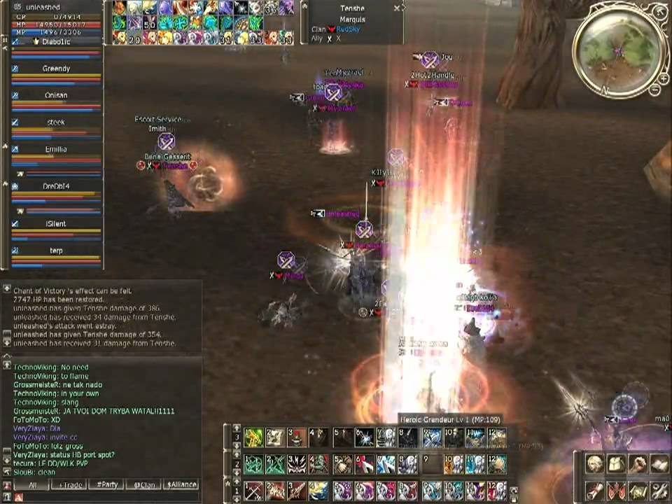 unleashed , SilentHorrorS VS RedSky (Lineage 2 Official Teon Server)