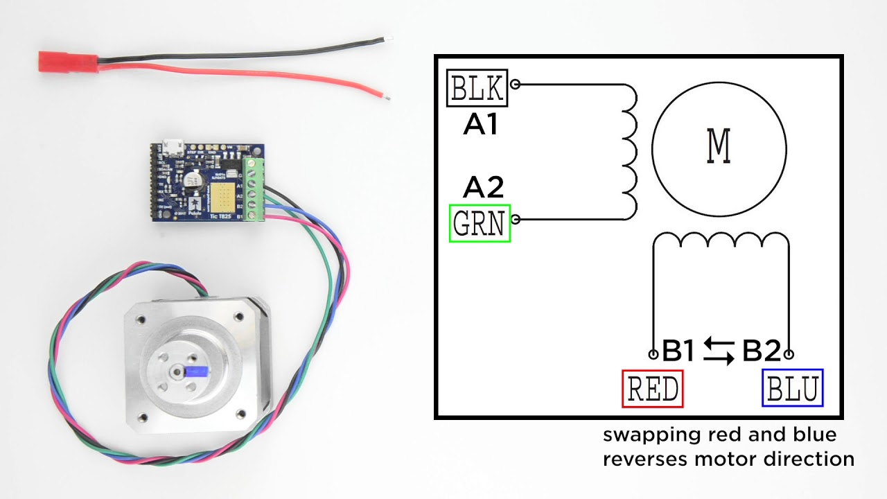 Getting Started With The Tic Stepper Motor Controller From Pololu Diagram