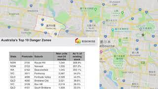 今年想在澳洲买房?  别买这十个风险最大地区!