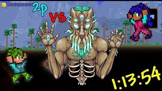 2p Terraria Speedrun Moonlord Unseeded Normal 1:13:54 (WR)