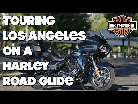 Touring Los Angeles on a Harley Davidson Road Glide