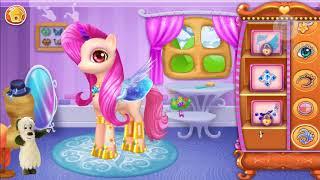 Hoạt Hình Vui Nhộn - Game Hay Cho Bé - Ngựa Pony Nhỏ Bé Xinh Đẹp - Chăm Sóc Trang Điểm Ngựa Pony