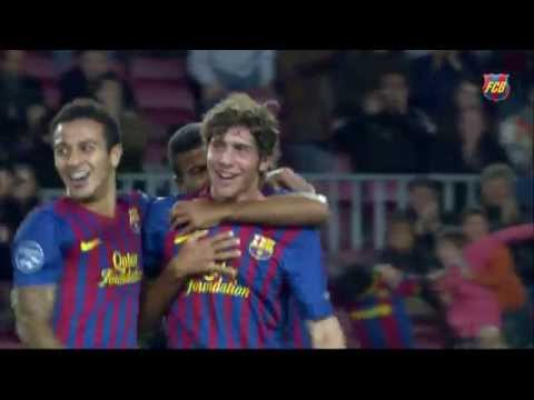 Sergi Roberto's first official goal with FC Barcelona vs Bate Borisov