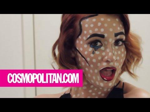 Pop Art Halloween Makeup Look: Pop Art Perfection | Cosmopolitan ...