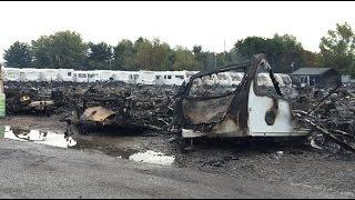 Highbridge Caravans fire aftermath (Burnham-on-Sea.com)