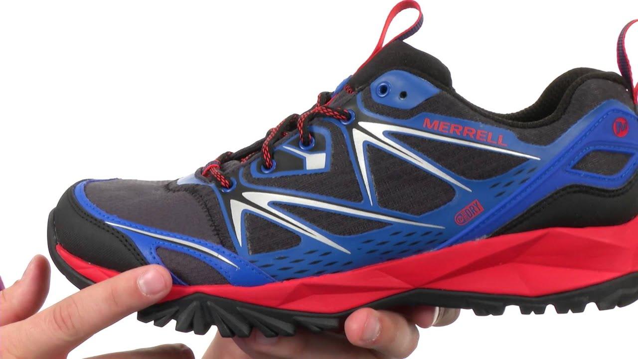 Merrell Capra Bolt Mens Walking Shoes Blue Navy Blue COMUK2042