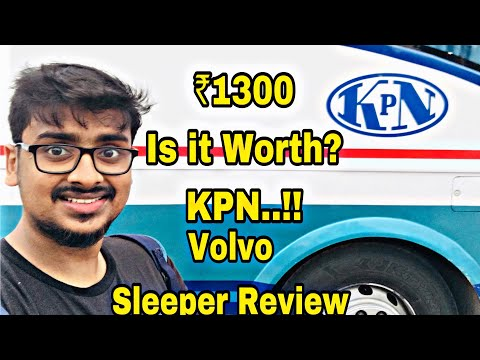 KPN Travels | Premium Volvo AC Sleeper Review | Pamban Express | Rameswaram To Chennai | Vlog 44