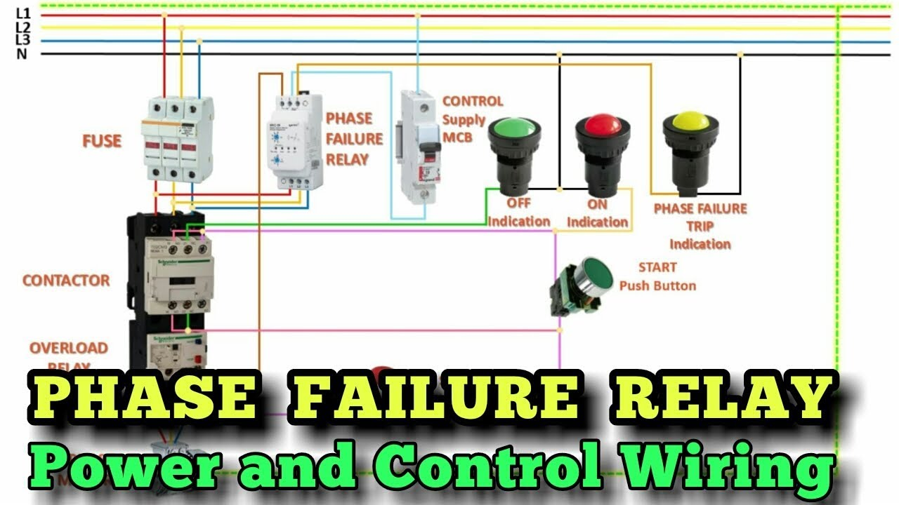 Wiring Phase Failure Relay In Dol Starter   Power And