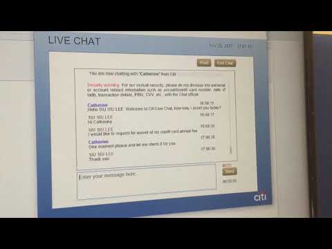 Citibank Live Chat Annual Fee Waiver