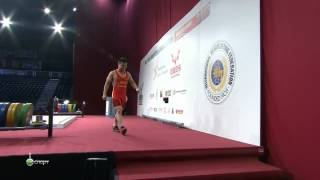 LONG Qingquan 3s 132 kg cat. 56 World Weightlifting Championship 2013
