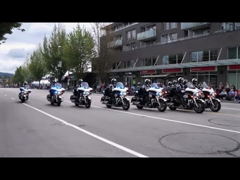 Seattle Police Motorcycle Drill Team Performing