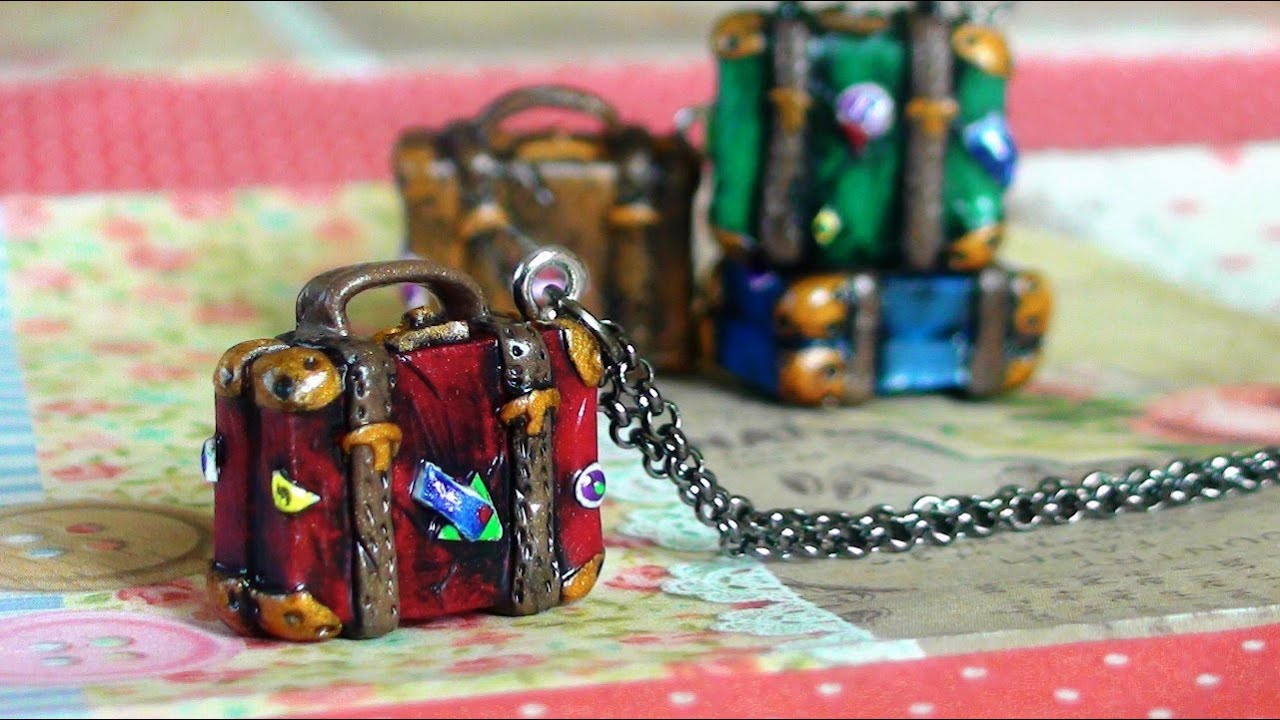 DIY Vintage Suitcase Charm Tutorial - YouTube