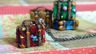 DIY Vintage Suitcase Charm Tutorial