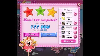 Candy Crush Saga Level 106 ★★★ NO BOOSTER