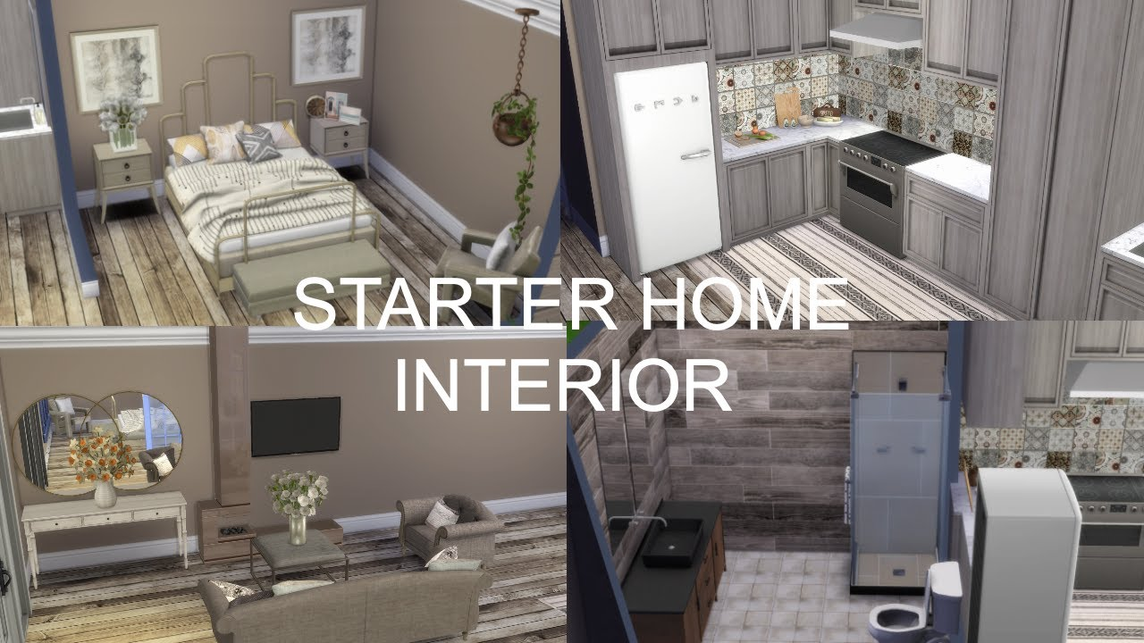 The Sims 4: Starter Home Decorating // CC Links - YouTube