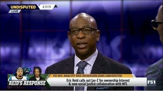 "UNDISPUTED | Eric Dickerson on: Eric Reid Blasts JAY-Z NFL Deal: ""When Has JAY Z Ever Taken A Knee?"""