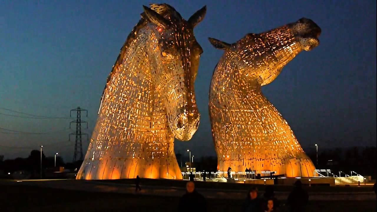 The Kelpies - Andy Scott's Equine Sculptures near Falkirk, Scotland