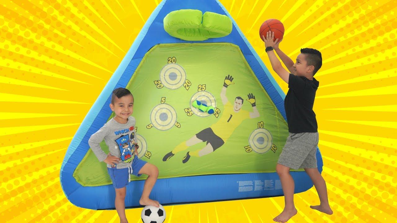 Inflatable Soccer Basketball Challenge Fun CKN