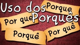 Uso do Porque | Por que | Porquê | Por quê - Como fazer - Aula de Português Grátis para Enem