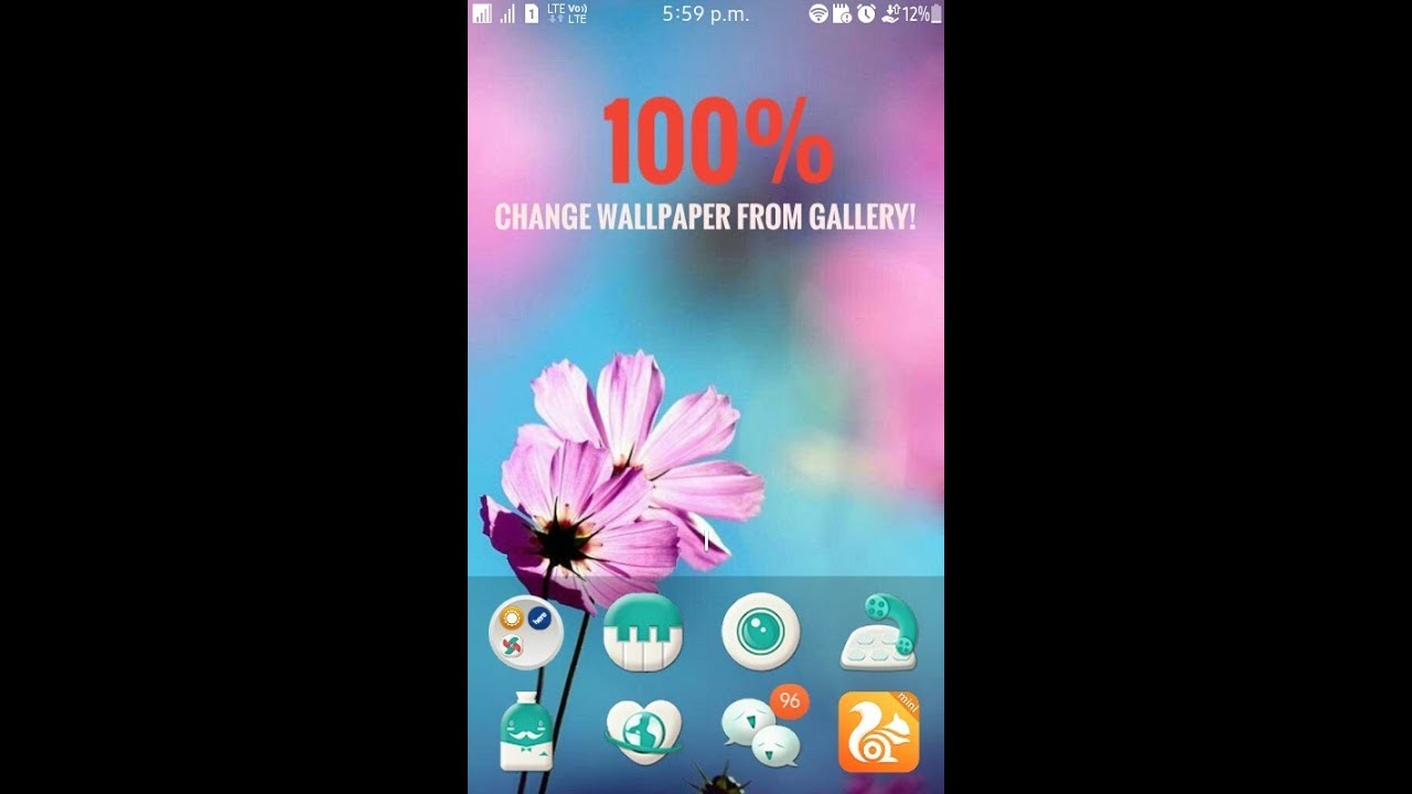 How To Change Wallpaper On Tizen Phones From Gallery Samsung Z1 Z2 Z3 Etc Youtube