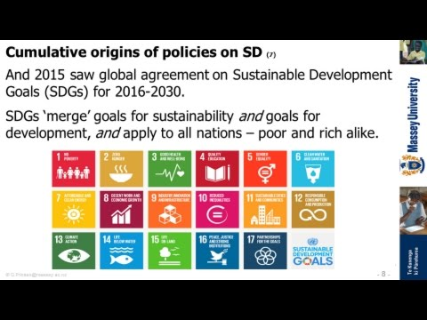 Origins of policies on sustainable development