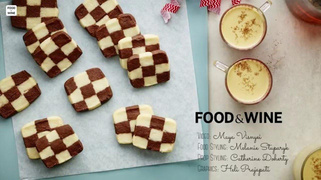 Checkerboard Cookies Food Wine