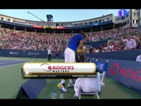 David Ferrer se retira ante Rafa Nadal cuando perdía 4-3 en el 1er. set.