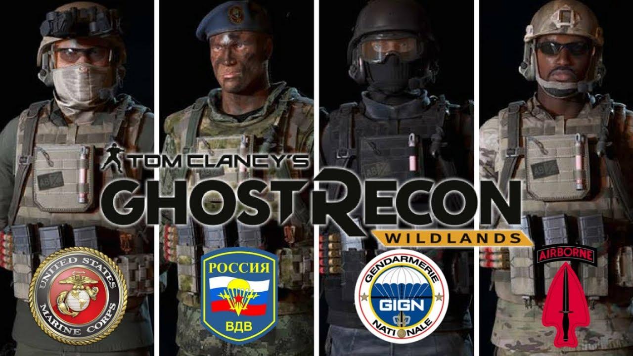 ghost recon wildlands special forces uniforms 31st meu