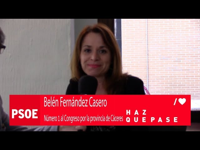 Belén Fernández Casero Nº 1 al Congreso por la provincia de Cáceres