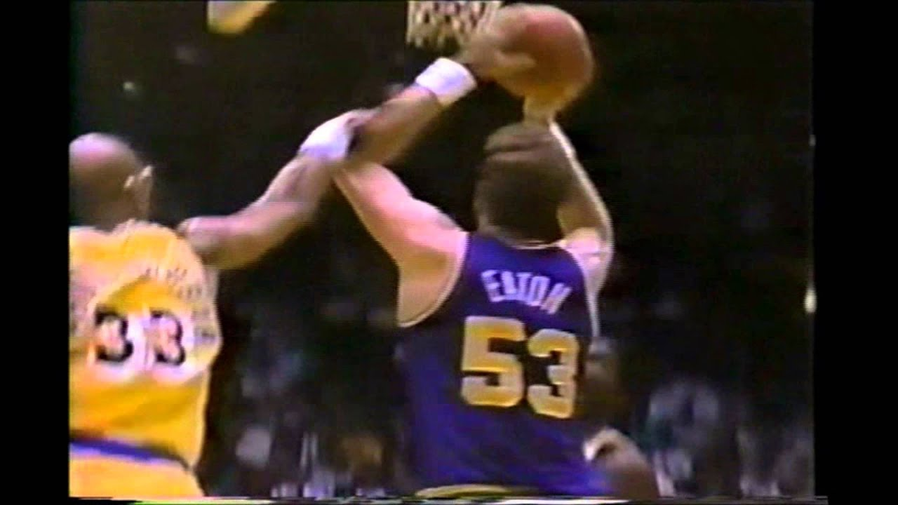 Mark Eaton Dunk Vs Kareem Abdul Jabbar