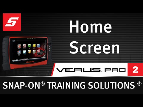 Home Screen : VERUS® PRO (Pt. 2/10) | Snap-on Training Solutions®