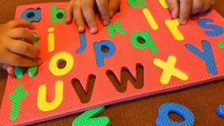 Learning Alphabet ABC. Preschool. Kindergarten. Kids. Babies. Abc puzzle play with me part 2.