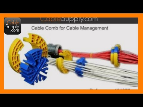 Bundling Ethernet Cable With The Cable Comb And Terminating A Patch Panel