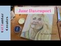 drawing a face with pan pastels - jane davenport portrait