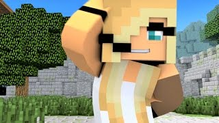 "Minecraft Songs: ""Fight Like A Girl""Psycho Girl 3 ♪♪ Little Square Face vs Psycho Girl ♪♪ Minecraft"