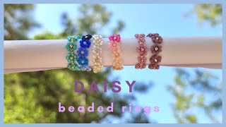 How to make a beaded daisy rin…