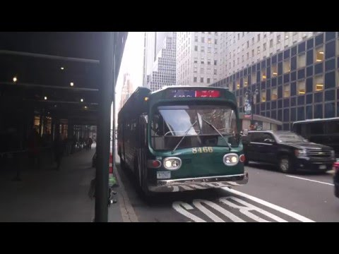 "Bat Bus 12 >> [4K HD] MTA New York City Vintige Bus: 1966 GM Fishbowl New Look ""Bat Wings"" On The M42 - YouTube"