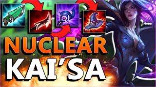 HIGHEST KAI'SA BURST YET!! Nuclear Kai'sa Mid Gameplay - PBE League of Legends